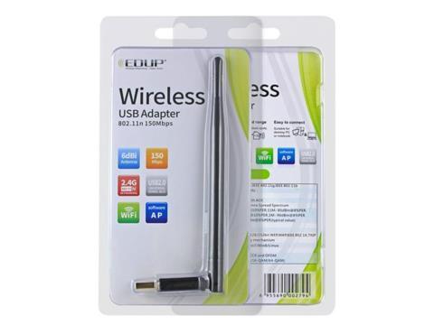 USB Wi-Fi адаптер EDUP EP-MS8551 150 Мбит/с, 6dbi Wi-Fi антенны,  802.11N , сервисный центр K-Mobiles center
