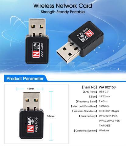 USB WiFi адаптер 150 Мбит Mini Wi-Fi Dongle 2.4 г 802.11 G/B/N, Easy Idea в санкт петербурге, Сервисный центр K-Mobiles Center